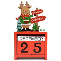 Christmas Reindeer Wooden Calendar