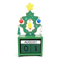 Christmas Tree Wooden Block Calendar
