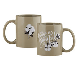 Truly Grateful Gift Mug with Lilly's flowers