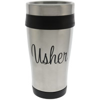 Usher Auto Coffee Mug Stainless steel  Silver