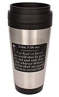 John 3:16 Bible Verse Travel Mug