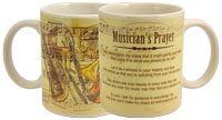 3420 Musician Prayer Ceramic Mug