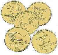 Gold Bible Coins Pkg