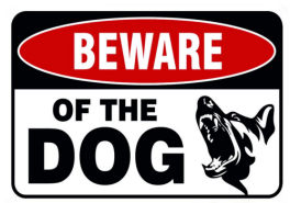 Beware of Dogs Metal Sign 12 x 7 3/4