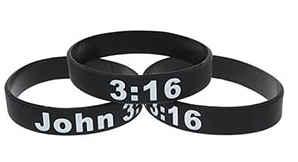 John 3:16 Black Silicone Bracelet