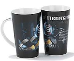 Firefighter Caring Heart Ceramic Latte Mug
