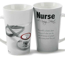 Nurse A Caring Heart Ceramic Latte Mug