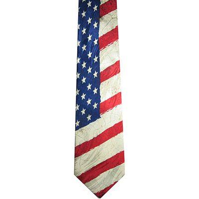 USA Flag Men's Silk Neck Tie