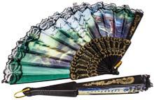 Religious Lace Fans, Foldable