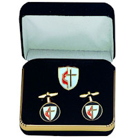 United Methodist Cuff Links Set Gold Plated