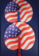 USA Flag Hand Fan (Pack of 12)
