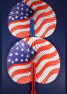 USA Flag Fan Pack of 12
