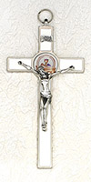 8 inch Enamel First Communion Crucifix Cross