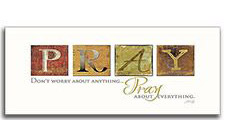 Pray Don't Worry Wood Plaque