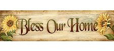 Bless Our Home Wood Plaque