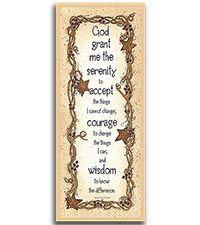 Serenity Prayer Wood Wall Sign