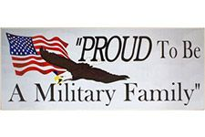Proud To Be A Military Family Wood Sign