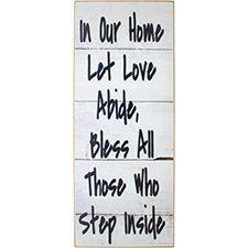 Let Love Abide Wood Sign
