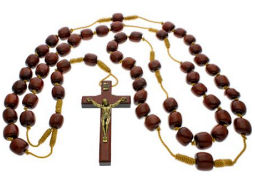 Wooden Bead Wall Rosary