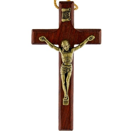 Wooden Wall Rosary Crucifix