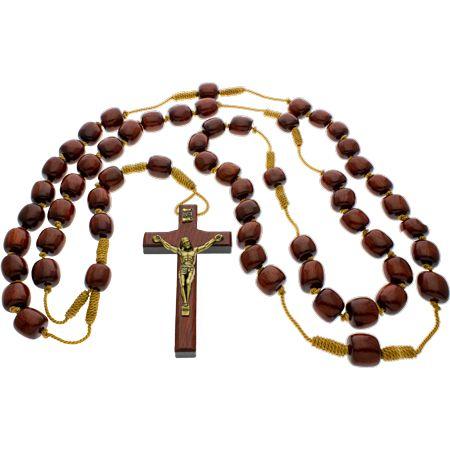 Wooden Bead Wall Rosary