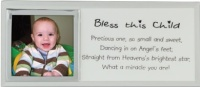 Bless This Child Photo Frame Plaque