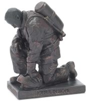 Called to Pray - Firefighter Statue