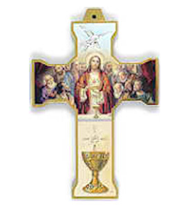 Illustrated Communion Wall Cross