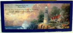 Thomas Kinkade - The Light of Peace - Plaque