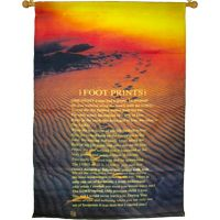 Footprints in Sand Indoor Cloth Banner