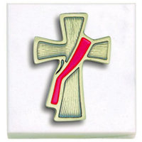 Deacon's Cross Paperweight Marble