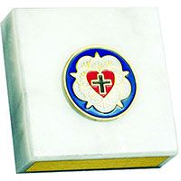 Lutheran Rose In Greatful Appreciation Paperweight