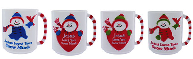 Jesus Loves You Snow Much Mugs REuseable