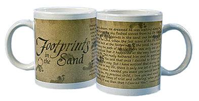 Footprints in the Sand Ceramic Mug