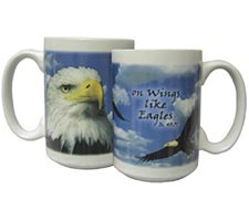 With Wings Like Eagles Mugs