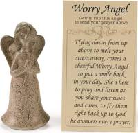 Worry Angel Statue and Card