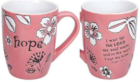 HOPE Pink Ceramic Coffee Mug