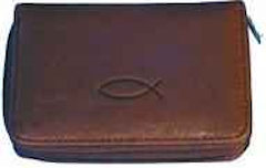 Christian Fish Leather Wallet