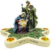 Holy Family Advent Star Candle Holder