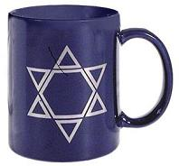 Jewish Star Mug Dark Blue