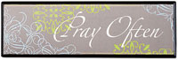 Pray Often Wall Plaque