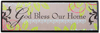 God Bless Our Home Plaque  wood