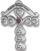 Faith, Hope, Love Cross Tree Ornament
