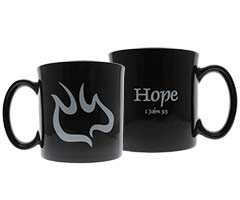 1 John 3.3 Stoneware mugs Descending Dove