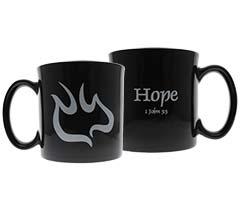 1 John 3:3 Hope Descending Dove Mug