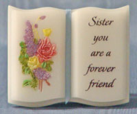 Mini Marble Stone Book Sister Forever Friend