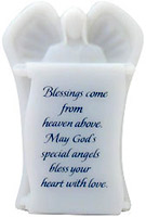 Sculpted Angel Scroll Blessings