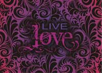 Live And Love Laptop Skin