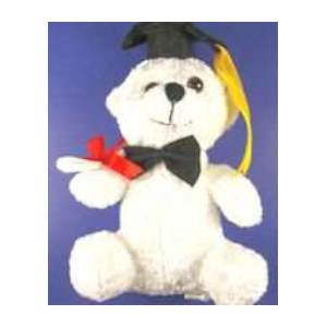 Graduate Plush Stuffed Bear 8 Inches Tall