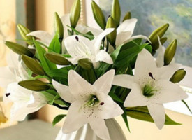 Real Touch White Lilies for Easter (Pkg of 3)